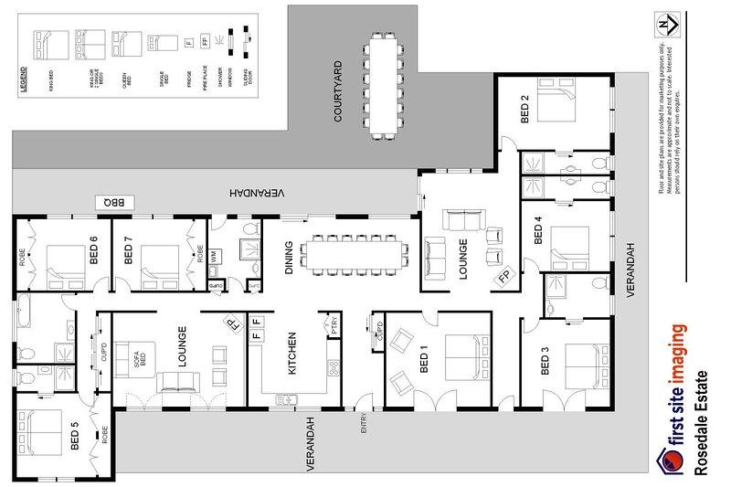Alojamiento en Hunter Valley - Rosedale Estate - Lovedale - Plano de planta