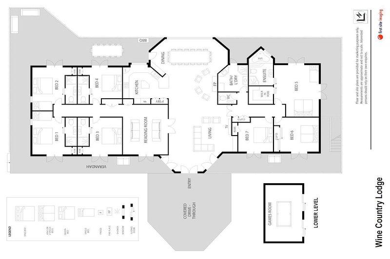 Hunter Valley Accommodation - Wine Country Lodge - Pokolbin - Floor Plan
