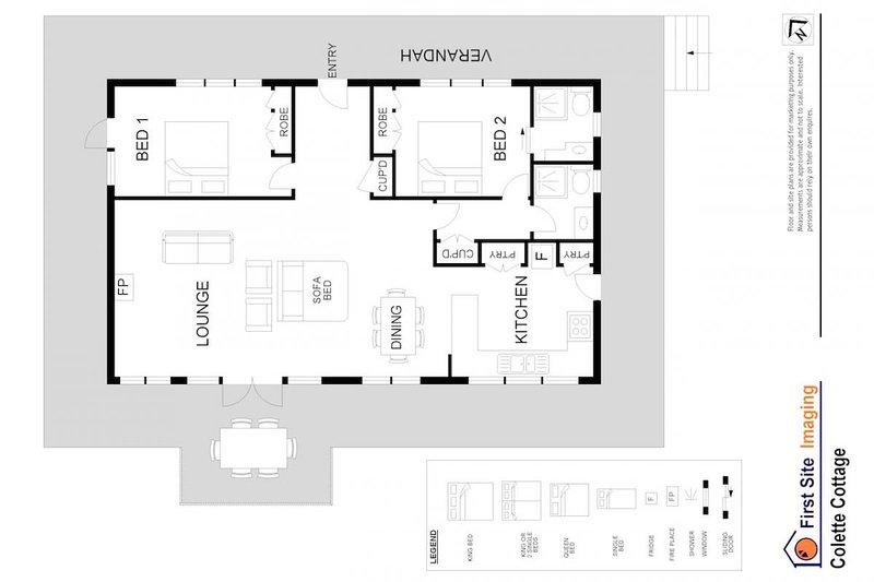 Hunter Valley Accommodation - Colette Cottage - Pokolbin - Floor Plan