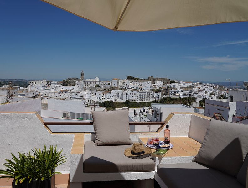 Welcome to your view from the roof terrace. Welcome to your view from the roof terrace.