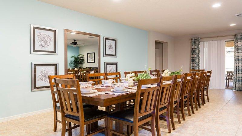 Mesa de jantar para a família