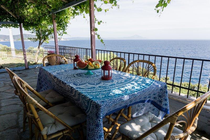 Zennova #1 Mount Athos & Sea View, vacation rental in Pyrgadikia