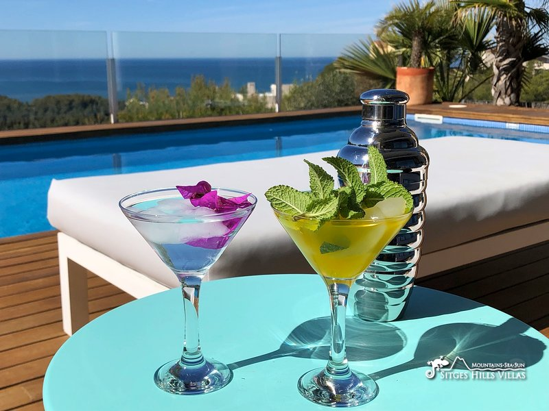 Stylish Villa Oasis with private pool and stunning sea views, holiday rental in Garraf