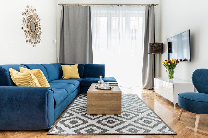 LUXE LIVING Stylish Designer Prime Stay Location, Ferienwohnung in Krakau