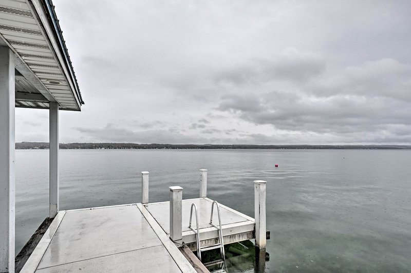 Jump into the water right from your private dock.
