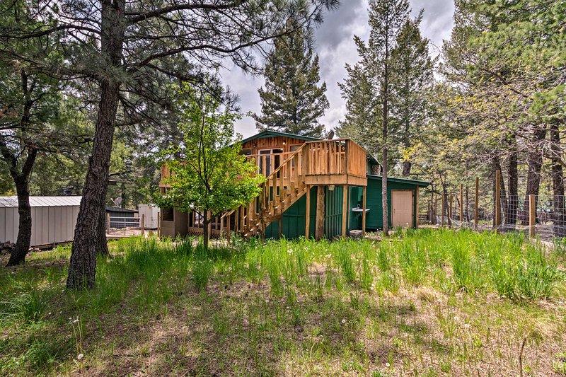 ¡Esta cabaña aislada está a solo minutos del estreno del senderismo y el esquí!