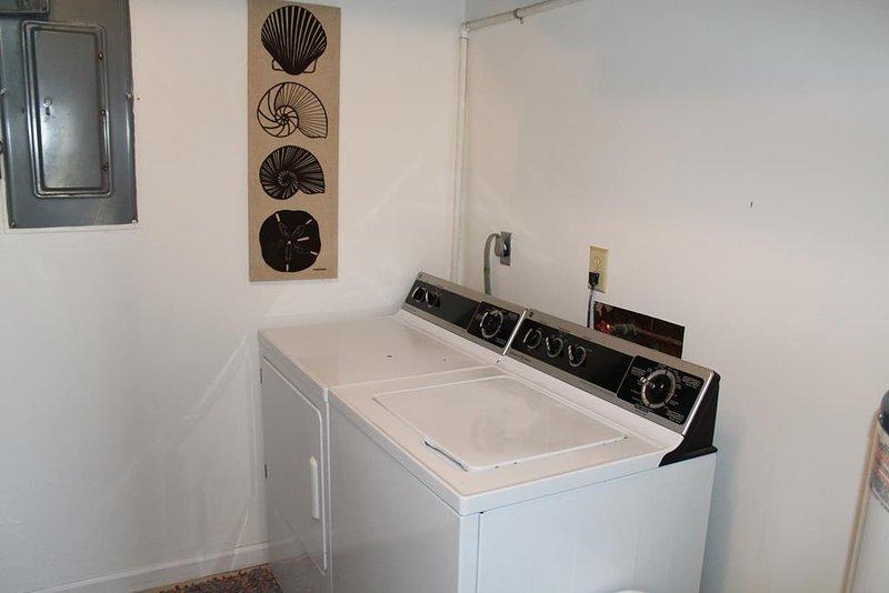 washer dryer ground level