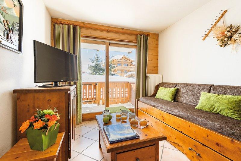 Venez séjourner dans notre appartement confortable et charmant aux Saisies!