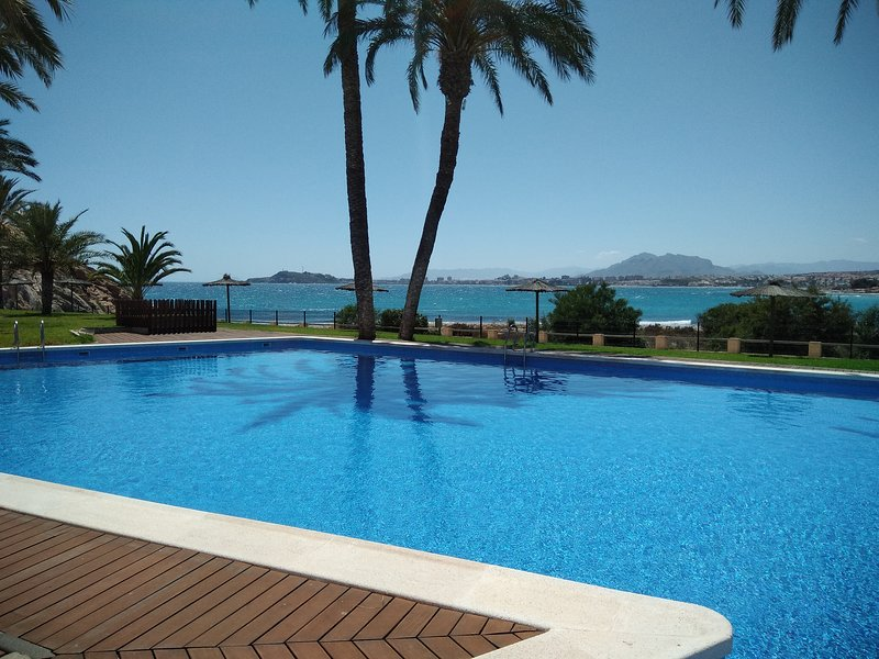 Beach front apartment with fabulous sea and mountain views, holiday rental in Isla Plana