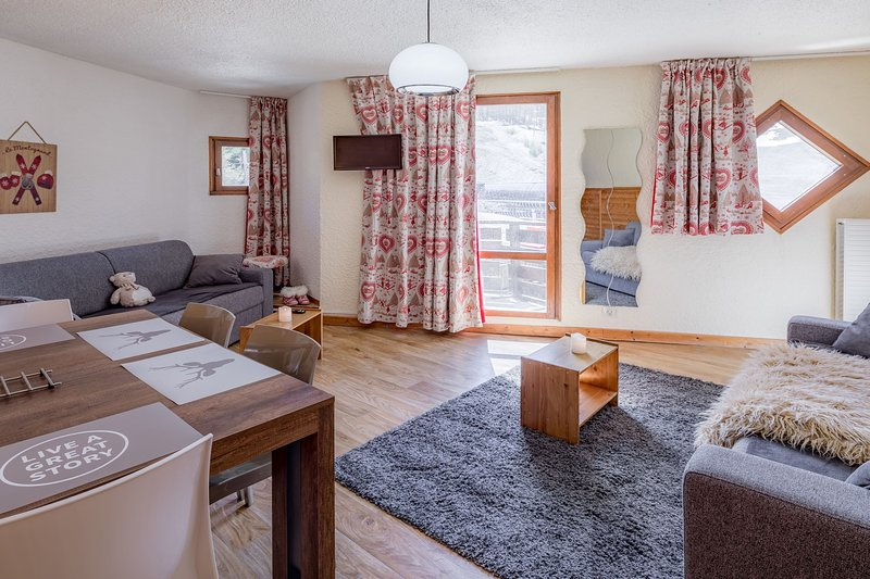 Welcome to our cozy and charming studio for 4 in Les Orres!