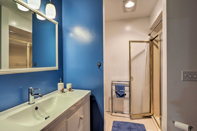 The 2nd bathroom features a walk-in shower.