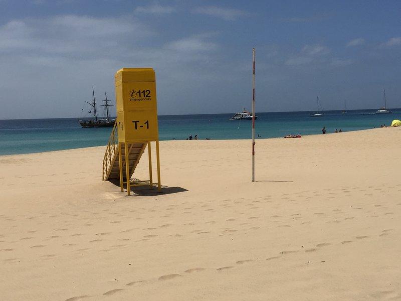 post di bagnino sulla spiaggia di Morro Jable