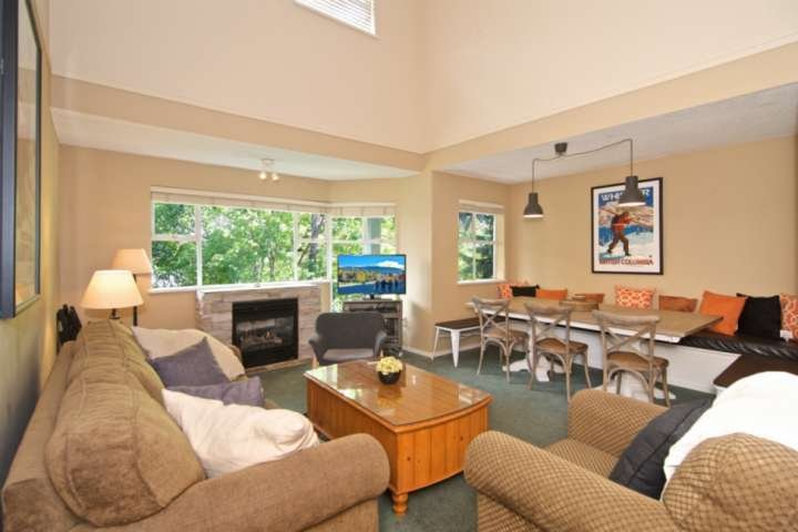 TOP FLOOR at Base of BLACKCOMB with LOFT Bedroom; Superb Location Chalet in Whistler