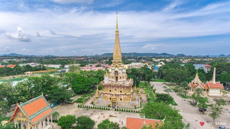 Wat Chalong, the oldest temple on the island, well worth a visit.