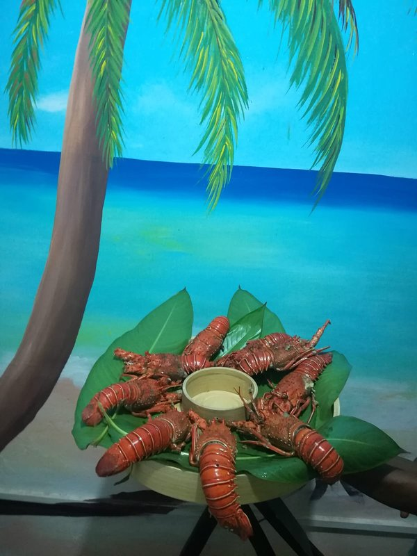 The lobster meal in Keryvillage.