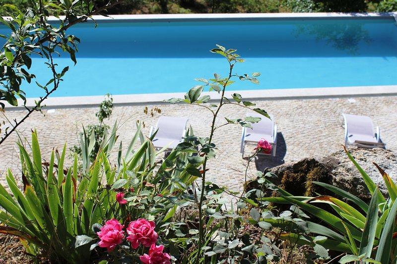 Landhuis Lugar do Pego, ideaal voor groep 10p, 4 ruime slaapkamers met bergzicht, holiday rental in Sao Joao de Areias
