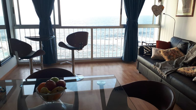 View of the sea from the lounge
