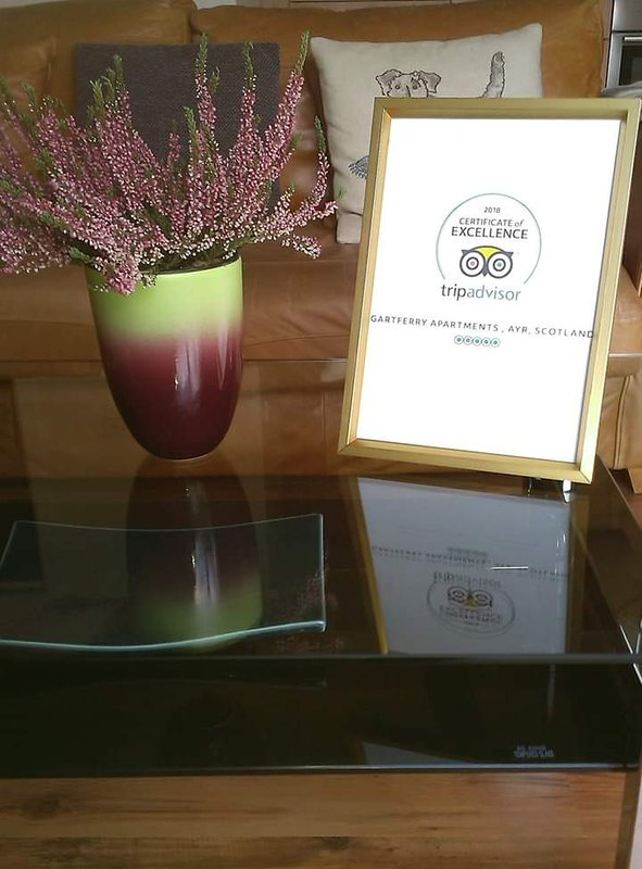 Thank you to Guests Gartferry Apartments got great reviews Certificate of Excellence - Tripadvisor