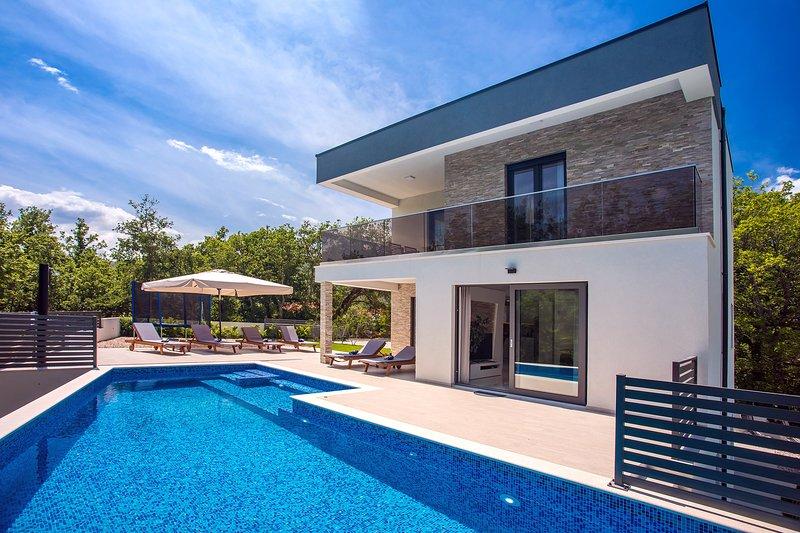 Villa Zora Modern and luxurious villa with heated pool, sauna, 4 bedrooms, holiday rental in Naklice