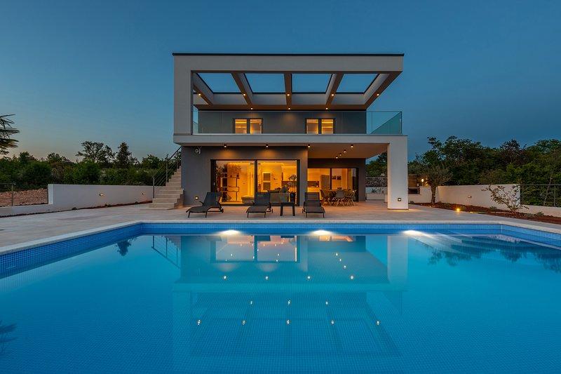 Modern Villa Quadra, on the Island of Krk – semesterbostad i Krk