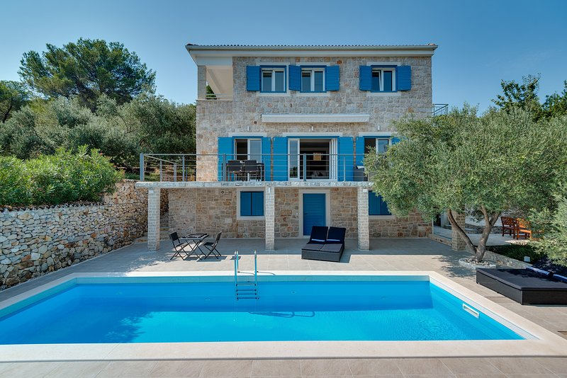 Stone Villa Marceline, in Dalmatia,with a Pool, vacation rental in Prvic Sepurine
