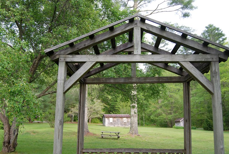 This photo from our gazebo shows the open spacious grass of the property.