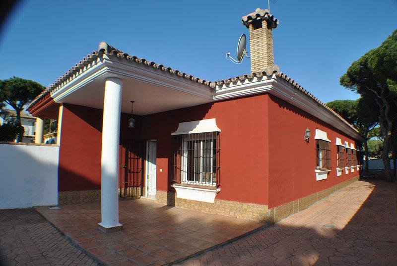 Chalet pareado en La Barrosa, alquiler de vacaciones en Novo Sancti Petri