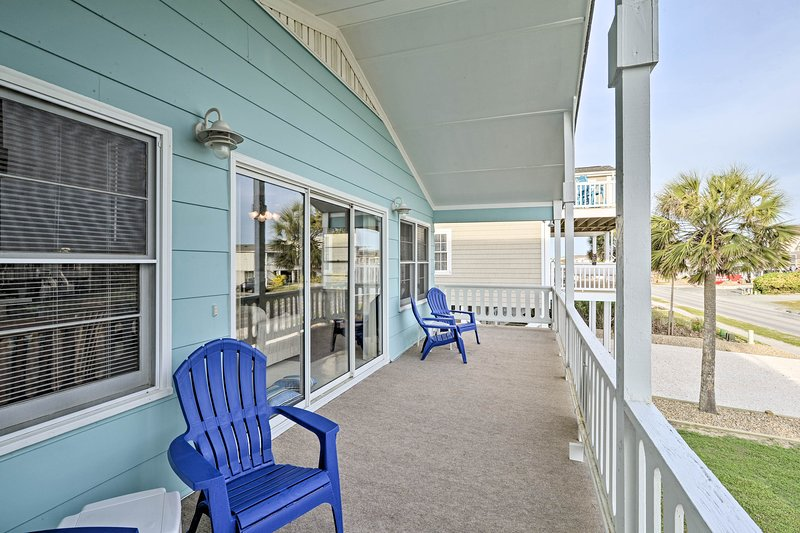 Find your prime seat at this 4-bedroom, 2-bath Holden Beach vacation rental.