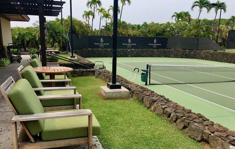 Courts de tennis du Four Seasons Resort.