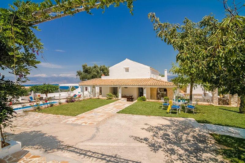Villa Rastoni | Sunny Family Villa, Heated pool, Top Views of Kalami beach, holiday rental in Corfu