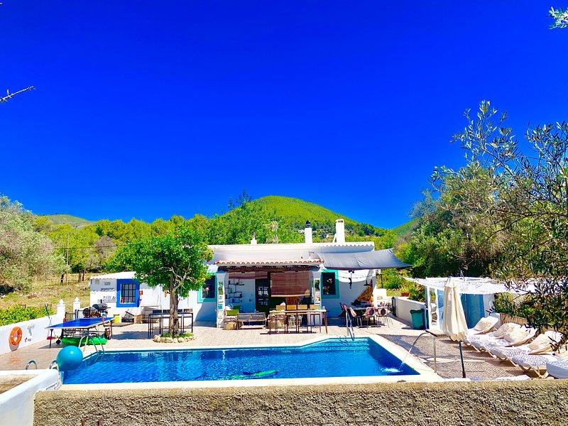 Amazing studio with swimming-pool, holiday rental in Sant Joan de Labritja