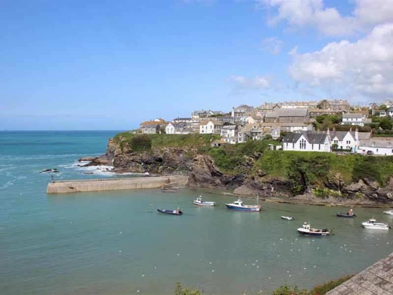 Port Isaac harbour and village