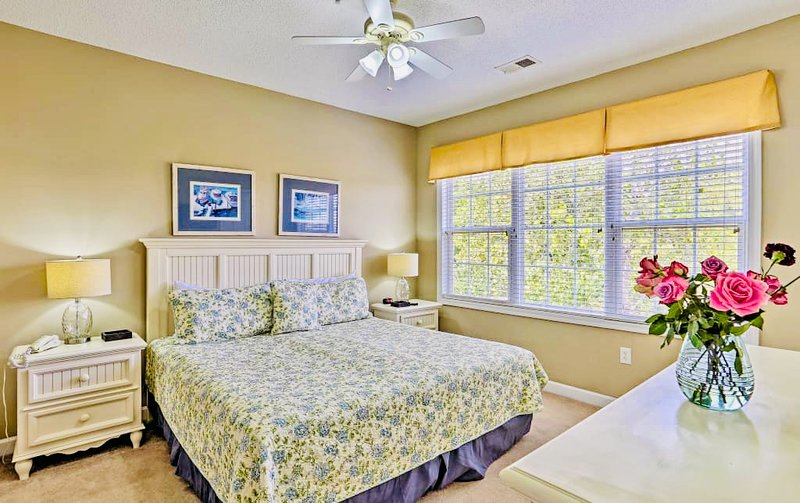 Master bedroom includes walk-in closet and full private bathroom.