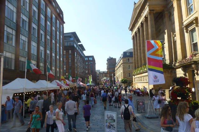 Merchant City Glasgow City Centre 35 minuten lopen van het appartement