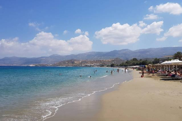 Sitia beach is 350m from the property