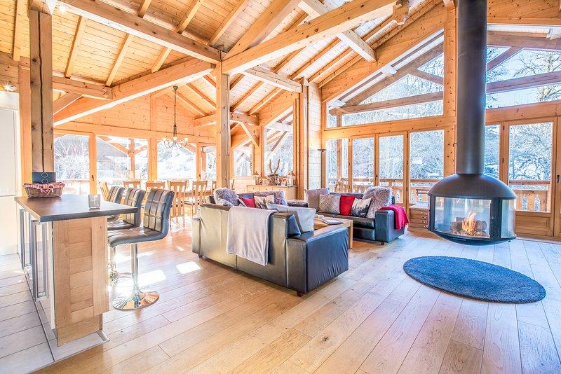 Stunning 4 bedroom duplex apartment, holiday rental in La Cote-d'Arbroz