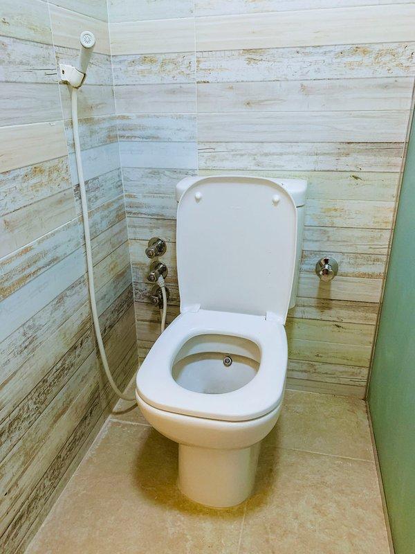 WC con manguera adicional y ducha. Renovación completa de la casa 2019.