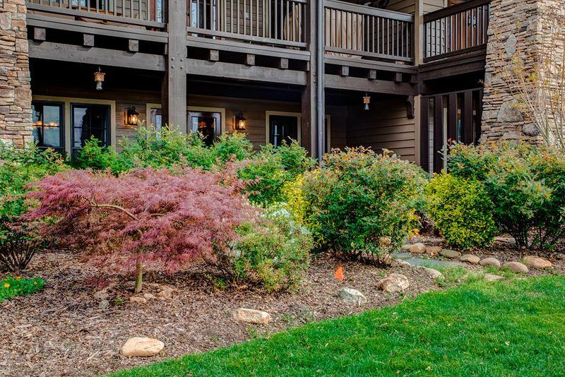 Well-tended landscaping