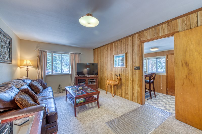 Dog-friendly, riverfront cabin w/ a full kitchen on 300 acres, vacation rental in Drake