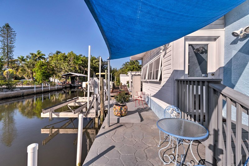 The private dock is perfect for cocktails or your morning coffee.