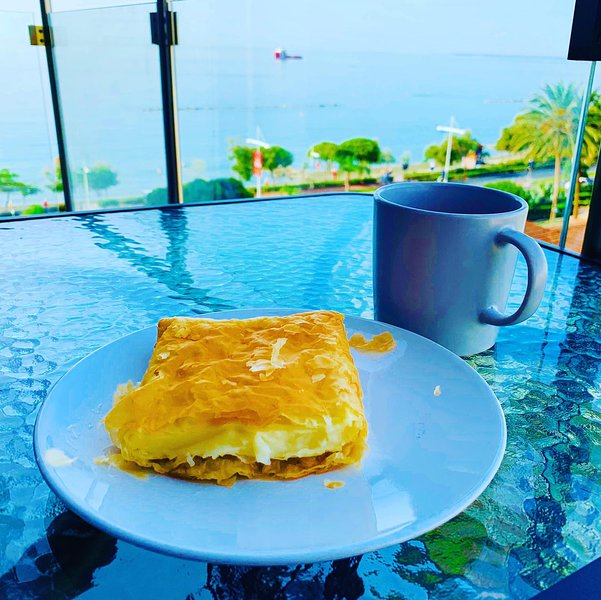 Enjoy breakfast overlooking the sea