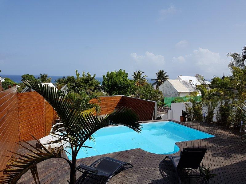 Villa vue Mer avec piscine a 500 m de plage  et a 2 kms du bourg, location de vacances à Le Gosier