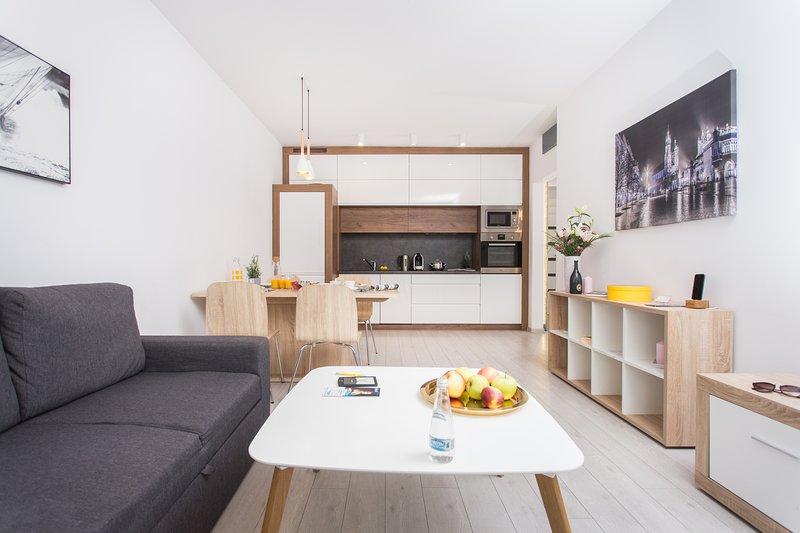 3-rooms Premium Apartment up to 6 people, 10 minutes walk from Main Square, alquiler de vacaciones en Cracovia