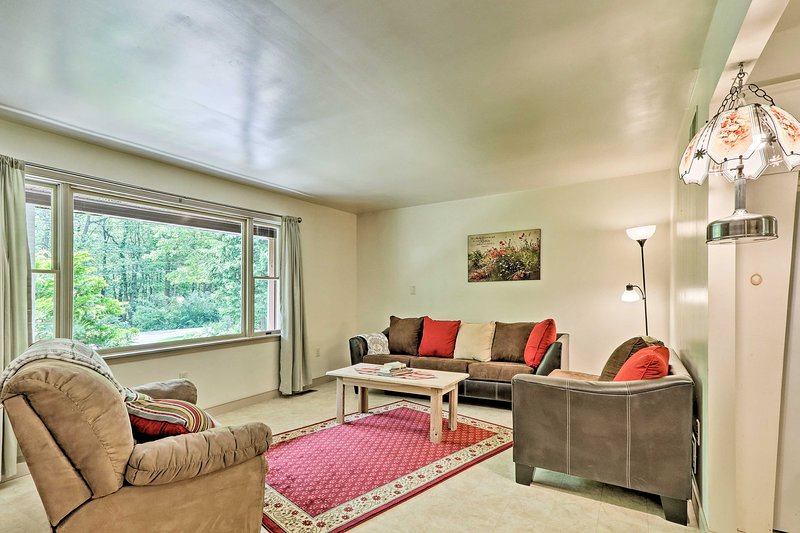 Inside the vacation rental, you'll find all of the comforts of home.