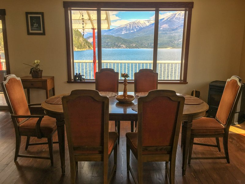 Enjoy the view while dining on the main floor