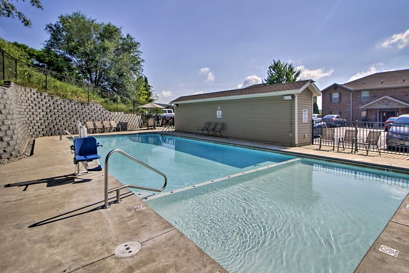Perfect your summer tan while lounging next to the community pool.