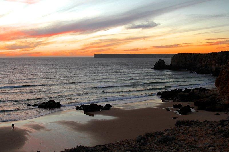 Sunset in Tonel beach