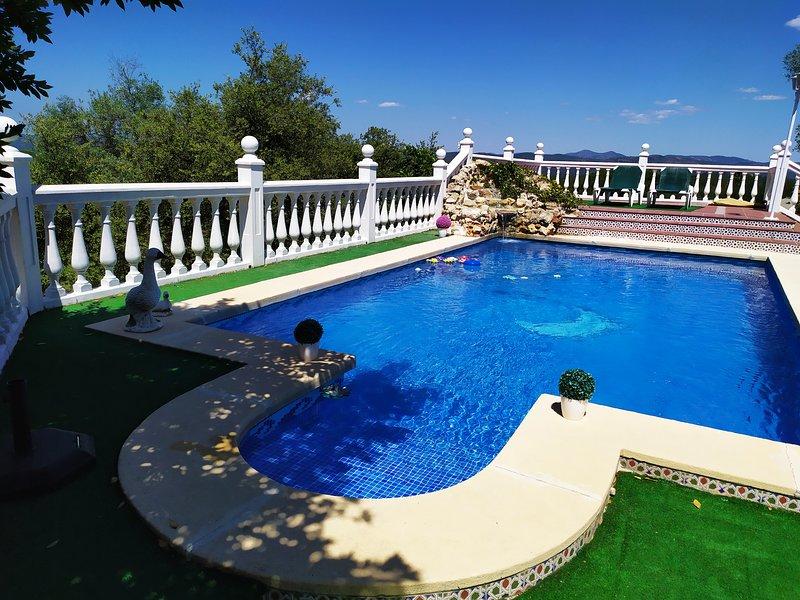 Vista general piscina.