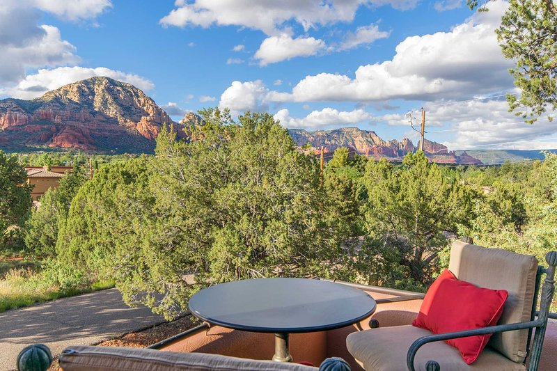 You'll want to spend both sunrise & sunset on your private patio.