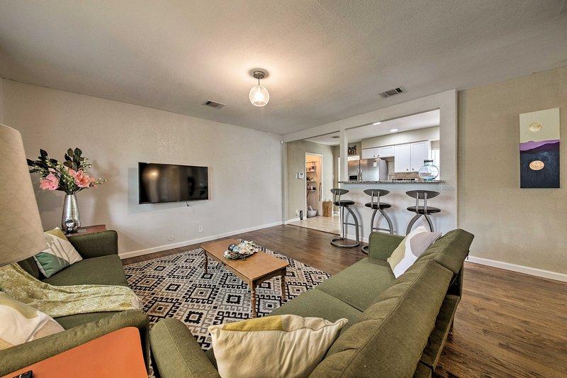 Book your San Antonio escape to this tasteful 3-bed, 1-bath vacation rental.